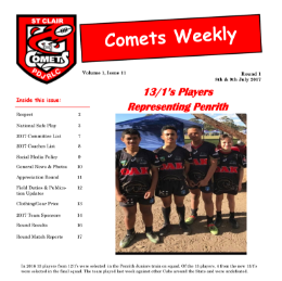 Comets Weekly - 2017 - Issue 11